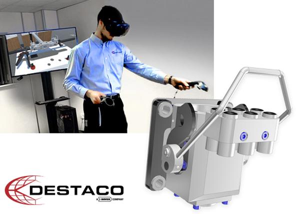 DESTACO utiliza la realidad virtual para diseñar y simular proyectos antes de su producción