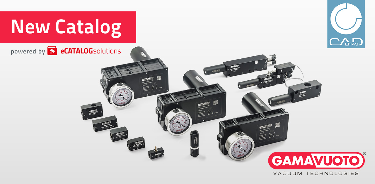 3D CAD product catalog of Gamavuoto